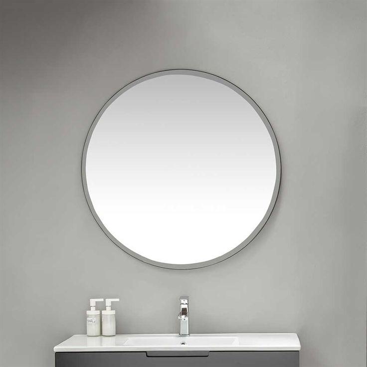 Snygg rund spegel med lätt falsad ytterkant och svart sida som kommer göra ditt badrum så mycket stilrenare! Passar perfekt ovanför ditt tvättställ. Du kan välja mellan fyra olika storlekar ovan så du får en spegel som passar just ditt badrum! Fri frakt på stonefactory.se