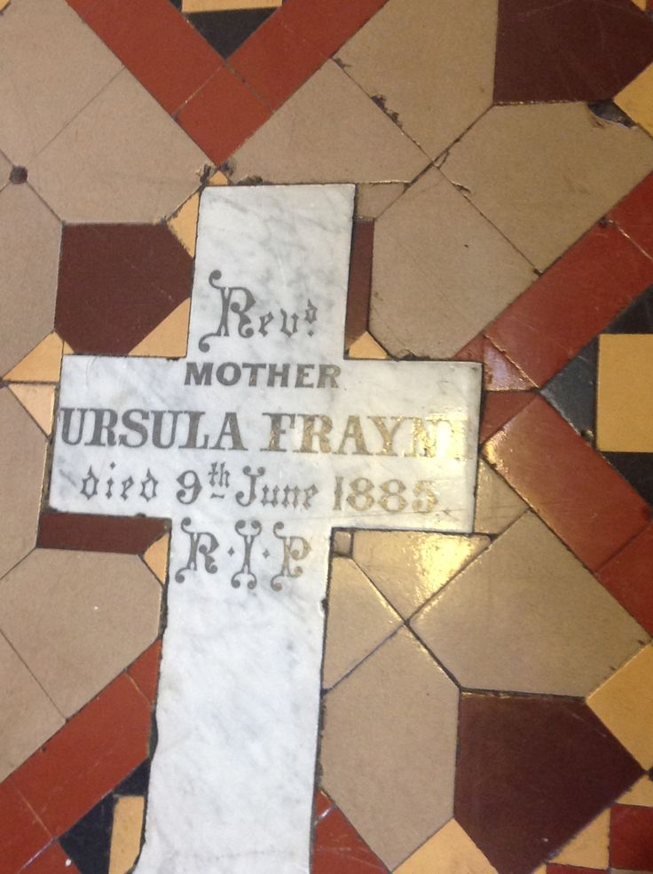 Mother Ursula Frayne died in Nicholson Street, Fitzroy on 9 June 1885. A Gothic chapel to her memory was built by her successor in the convent grounds. Her remains are buried in a vault in the chapel under a Celtic cross, reminding all of her origins.