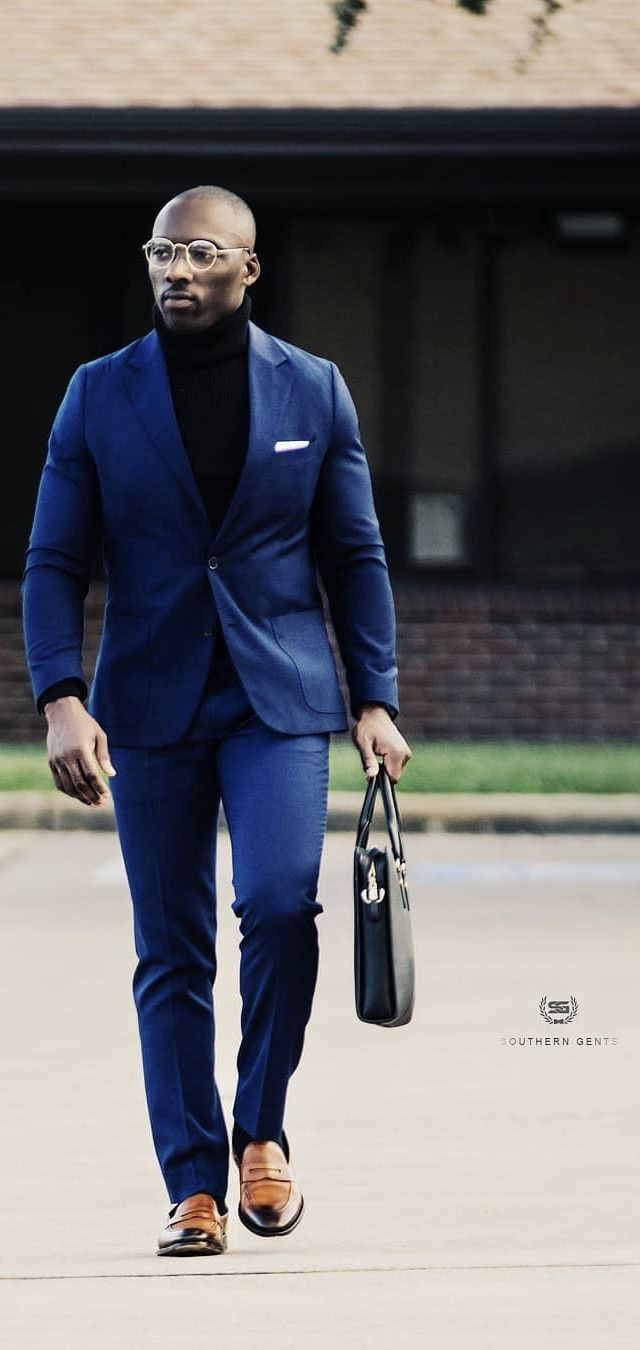 s_gents , with a navy suit combo with a black turtleneck