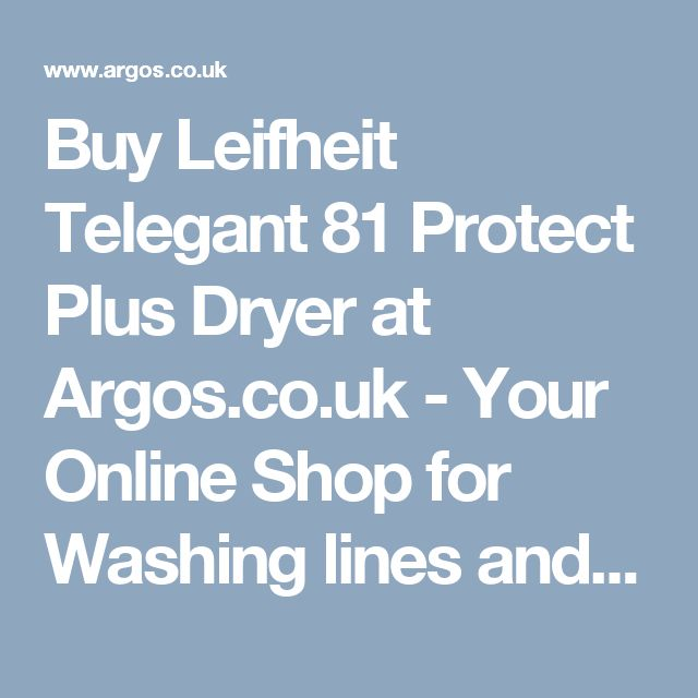 Buy Leifheit Telegant 81 Protect Plus Dryer at Argos.co.uk - Your Online Shop for Washing lines and airers, Laundry and cleaning, Home and garden.