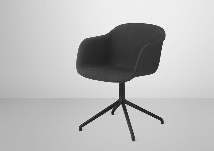 Fiber chair - swivel base / Design by Iskos-Berlin / Muuto. Conference chair, mødebords stol, dining chair, spisebords stol