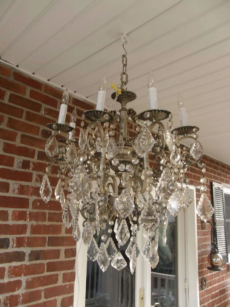 Silver Antique Vintage Flowers French Crystal Chandelier Make Offer 219 Best Ebay Images On