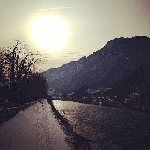 Trento, Italy    #italy #trento #trentino #mountains #snow #xmas #landscape #nature #river #sun #sky