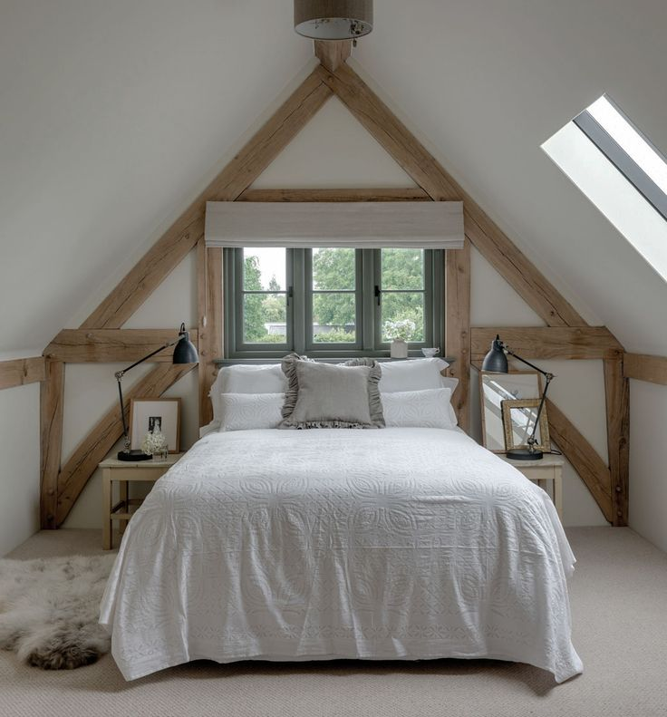 So not blue and white, but definitely under the eave, and the beams are very interesting. . .
