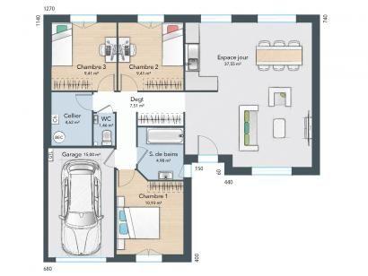 Modele Maison France Confort Fabulous La Maison Conomique