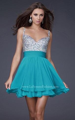 COCKTAIL DRESSES | La Femme Fashion 2012 - La Femme Prom Dresses - Dancing with the Stars