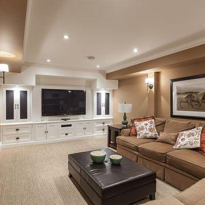 basement entertainment cabinetry basement ideas pinterest