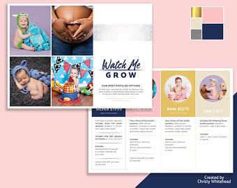 watch me grow photography pricing brochure easy template to edit in