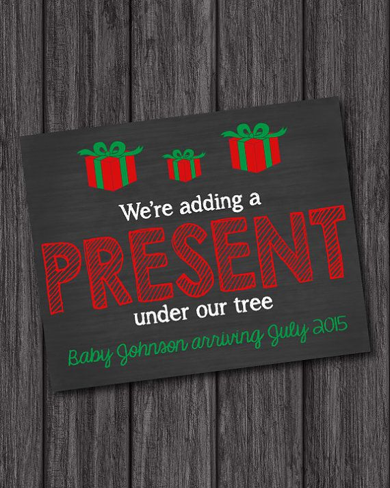 9 best Christmas Themed Announcements images – Cute Christmas Baby Announcements
