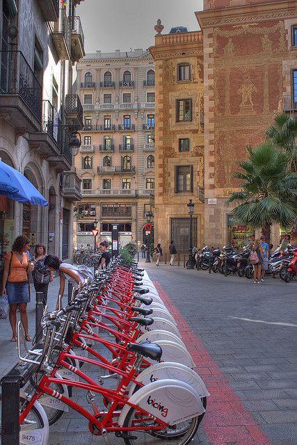 Barcelona, (Cataluña). Servicio de alquiler de bicicletas.