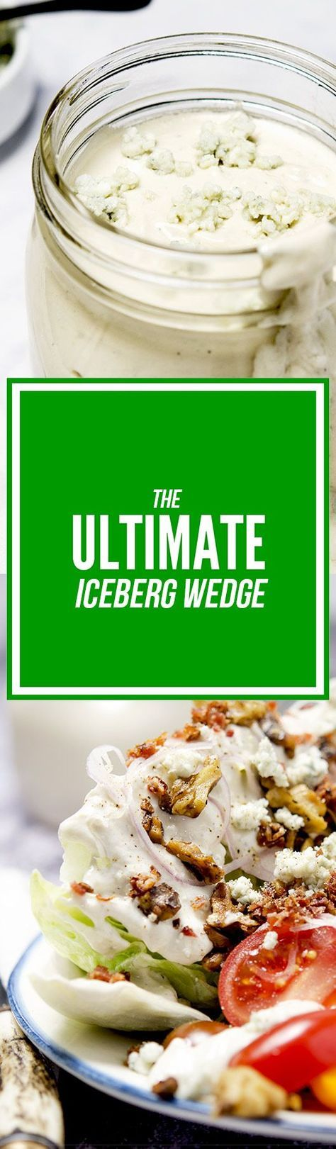 The perfect iceberg wedge salad has blue cheese dressing, bacon bits ...