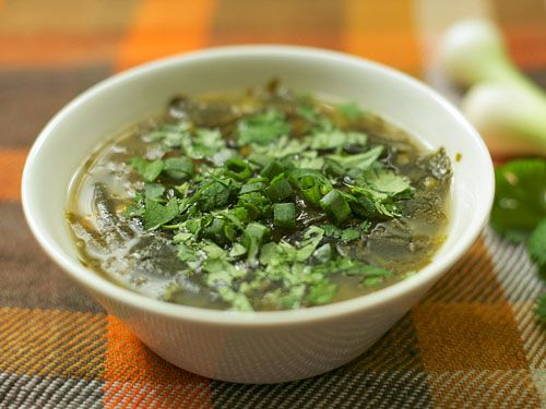 Lesotho: Spinach And Tangerine Soup