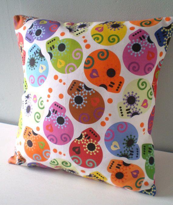 Halloween Shopaholic Sugar Skull Pillows For Day Of The Dead Decor Mas