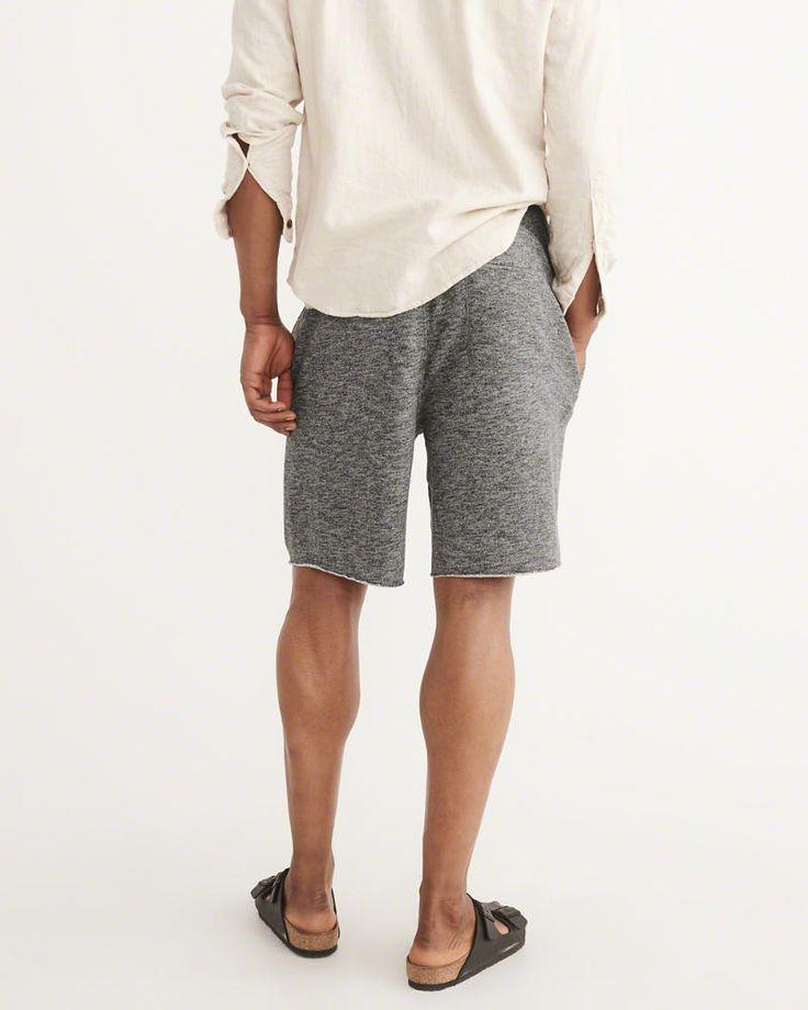 A&F Men's Logo Fleece Shorts in Dark Grey - Size XXL