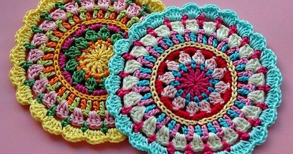 Free Crochet Mandala Patterns | ganchillo | Pinterest | Crochet Mandala, Crochet Mandala Pattern and Mandalas