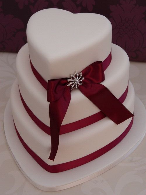 red  wedding cake | Download red-velvet-wedding-cake-heart