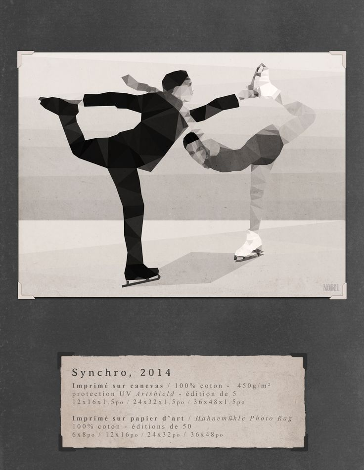 Synchro, 2014. 36x48in. #print on canvas & print on #Hahnemühle Photo Rag. Limited edition. #chic #shack #shabby #vintage #artistic skating #skates #duo #couple / Artist is Boris Nobel / Taken from his portfolio.