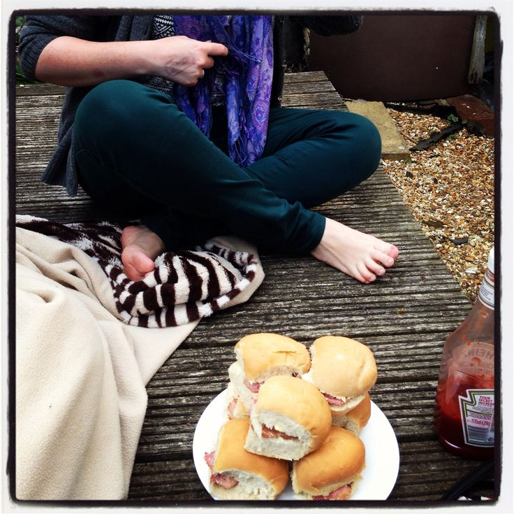 Piles of bacon sarnies. Blame Kath for that lot.
