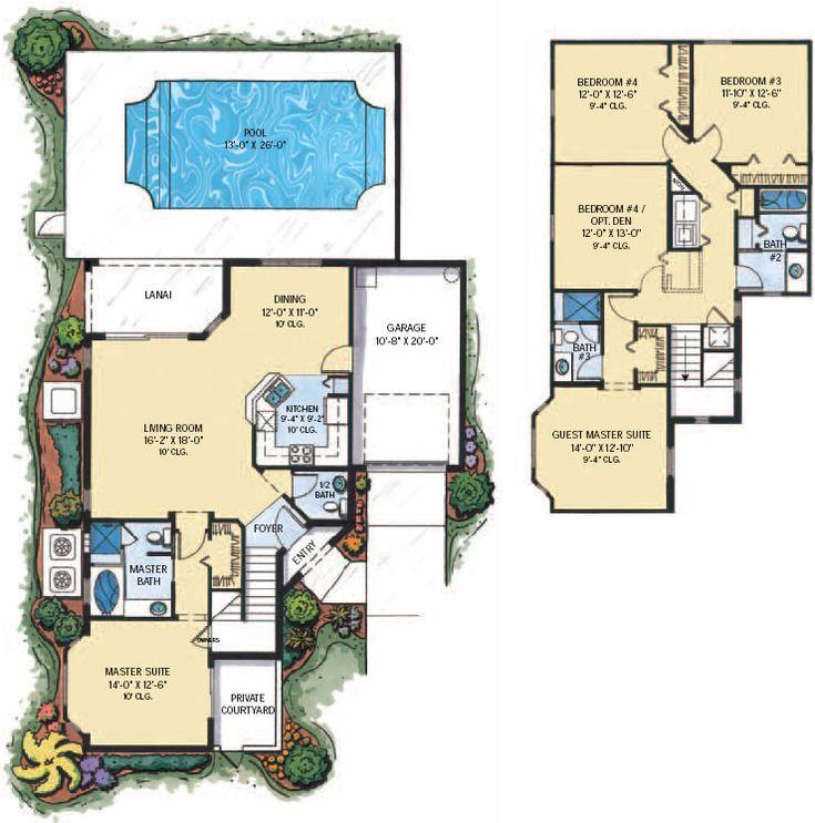 Tuscan hills 5 bed floor plan house plan pinterest for Tuscan villa floor plans