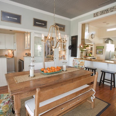 Living Room Pass Through. Farmhouse Kitchen ...
