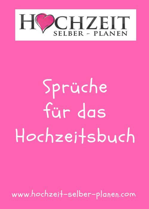Sprüche Hochzeitsbuch einmal anders gestalten / Ratgeber ...