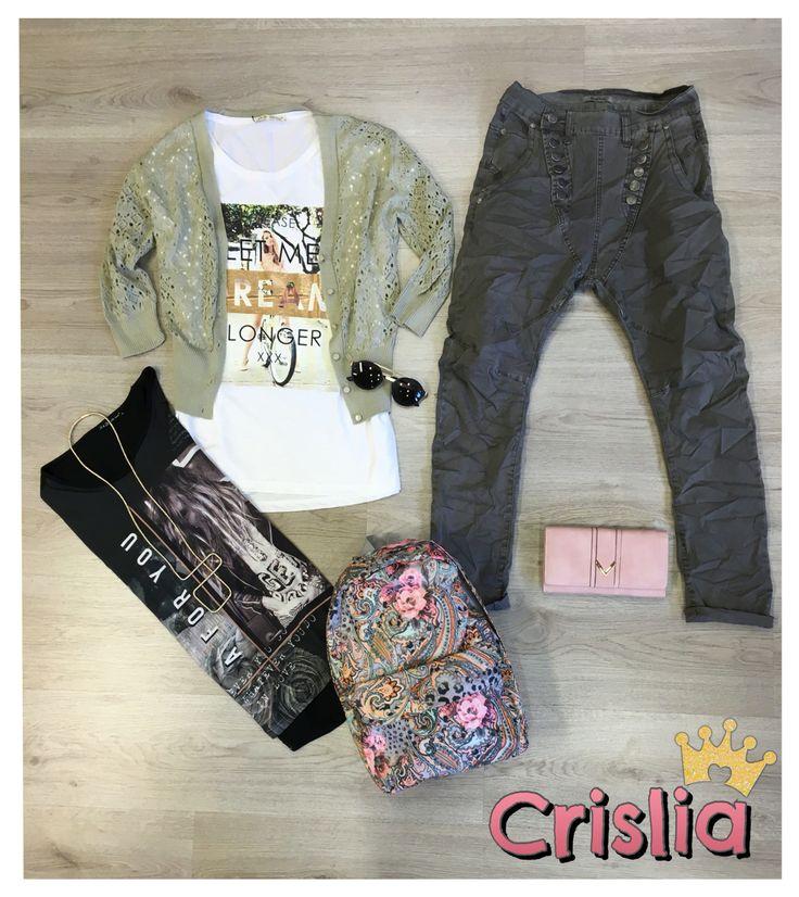Μπλούζες κοντό μανίκι one size ανετη γραμμή στα 9,99€ Παντελόνι υφασμάτινο boyfriend xs-s-m-l-xl στα 9,99€ απο 14,99€ Ζακετάκι one size διαθεσιμο και σε χρώματα στα 15,99€--> http://bit.ly/1UR3Tp1 Γυαλιά στα 7,99€--> http://bit.ly/1UwtVhA Κολιέ στα 5,99€ Σακίδιο πλάτης στα 15,99€ Πορτοφόλι στα 8,99€--> http://bit.ly/1QWjcpK #crislia #shoponline #newcollection #casual #total #outfit #spring #2016 #backpack #boyfriend Κάνε την παραγγελία σου : •τηλεφωνικά στο 210-5223012