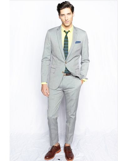 #suitup #menswear #fashion #spring #linen #collection #inspiration #style: Crew Spring, Grey Suits, Men'S Suits, J Crew, Jcrew Men'S, Men'S Styles, Men'S Clothing, Jcrew Suits, Gq Men'S Fashion