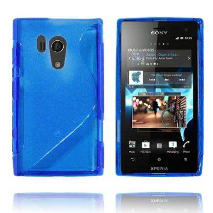 Läpikuultava S-Line (Sininen) Sony Xperia Acro S Suojakuori