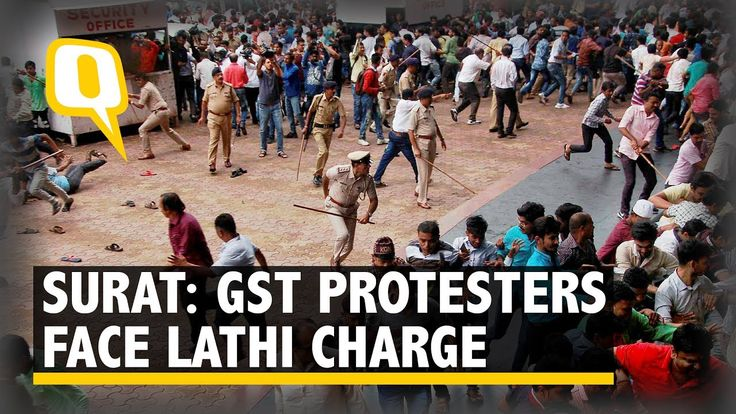 Surat Textile Traders Lathi Charged On Monday While Protesting Against G...