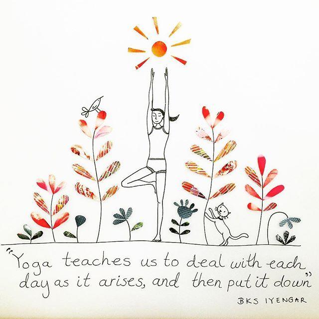 Sunrise #illustrator #illustrationage #pirategraphic #yogagirl #picame #illustrations #artwork #draw #illustration #artist #artoftheday #design #designers #colour #color #sunrise #sun #flowers #art_conquest #quote #yogaquote