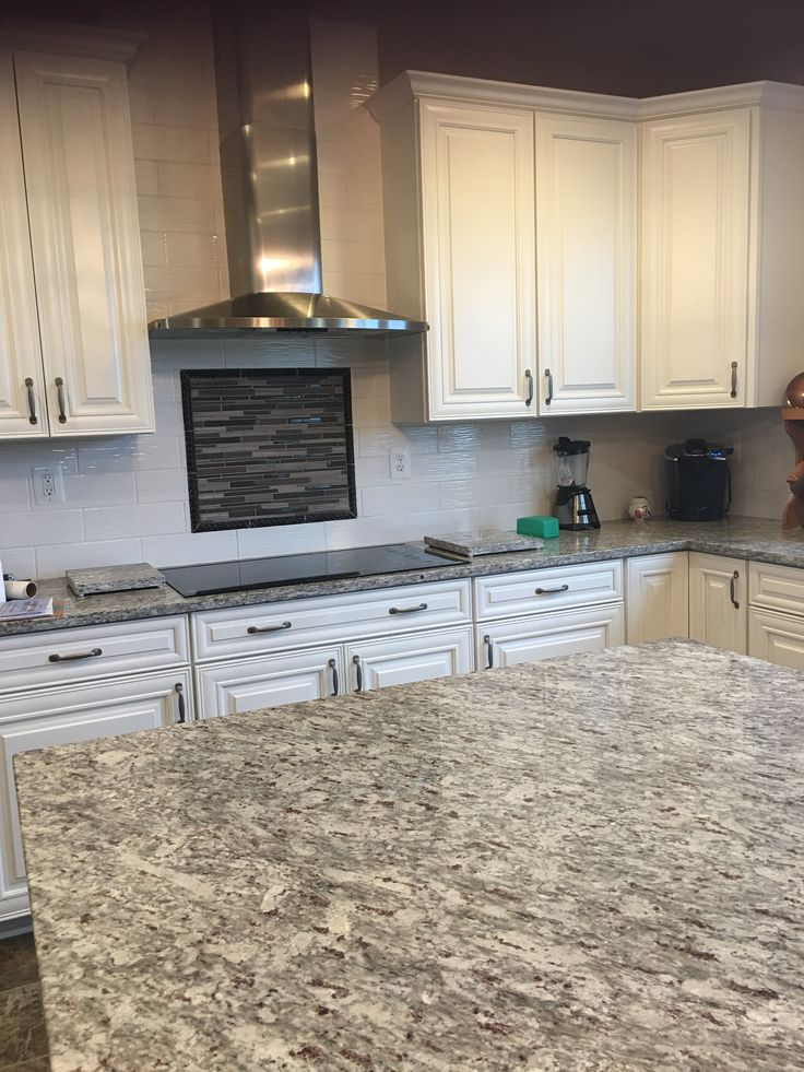 Moon White Granite Allen Roth Wavecrest White Tile