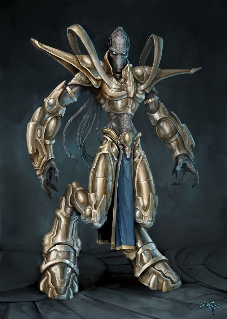 Ilustración de un #Zealot from #Starcraft