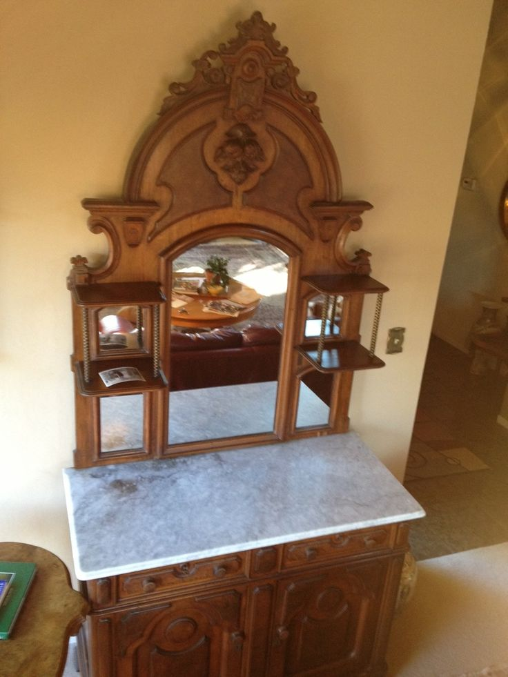 How old is this black walnut antique sideboard, and what's it worth? - 62 Best Antique Furniture Styled Shoot. Images On Pinterest
