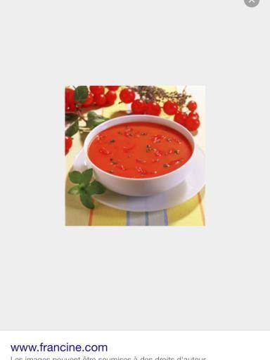 Recette de Velouté de tomate rapide