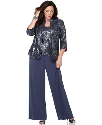 plus size formal pant suits | You are in: Plus Sizes > Plus Size Dresses
