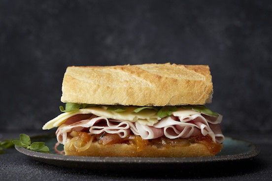 Bayonne Ham gives the classic ham and cheese sandwich a melt in the mouth upgrade.