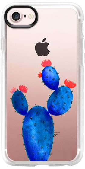 Casetify iPhone 7 Classic Grip Case - Cactus watercolor n. 13 by Psychae  #casetify #casetifyartist