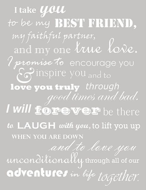 love these vows! :)