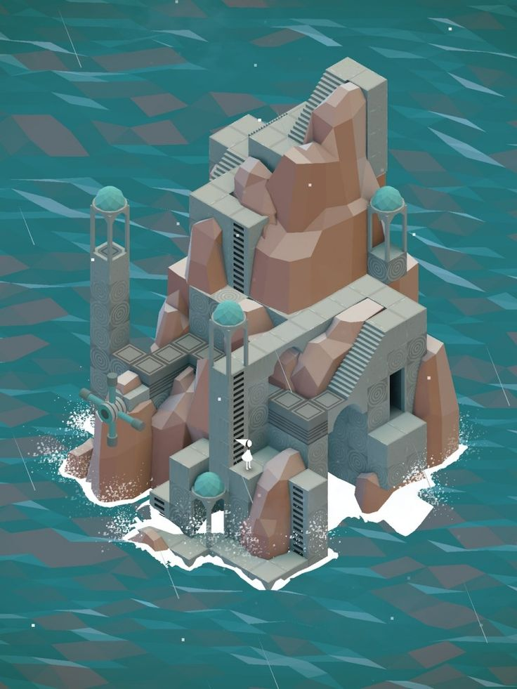 The Descent Level from Monument Valley by ustwo on iPad