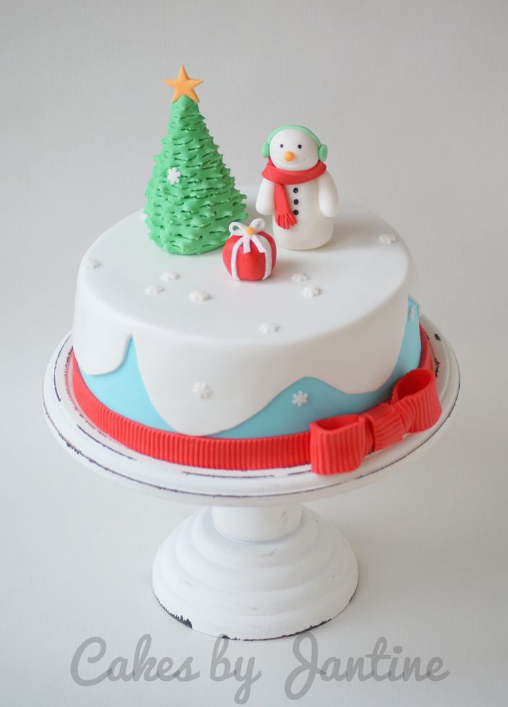 Cute Christmas cake Cakes by Jantine