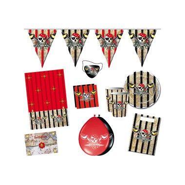 Red Pirate feestpakket 70-delig  Maak jouw stoere piraten feest nog leuker en spannender met het Red Pirate feestpakket. Met ooglapjes voor alle kleine piraten!  EUR 14.99  Meer informatie