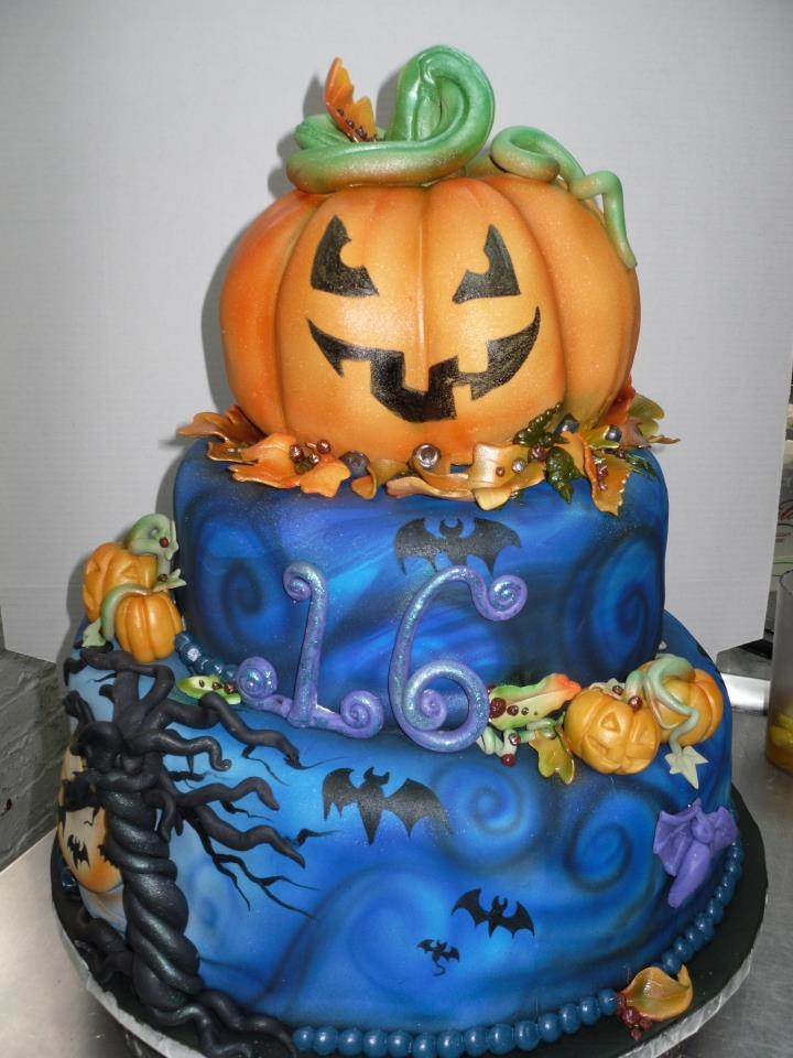 Scary Good Halloween Birthday Cake By Amazing Cake Artist