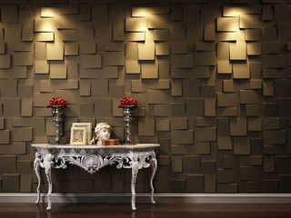 Nice wall treatment { in lieu of stone?}