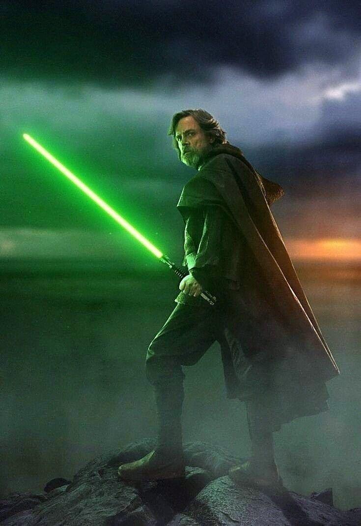 Luke Skywalker Green Lightsaber Wallpaper