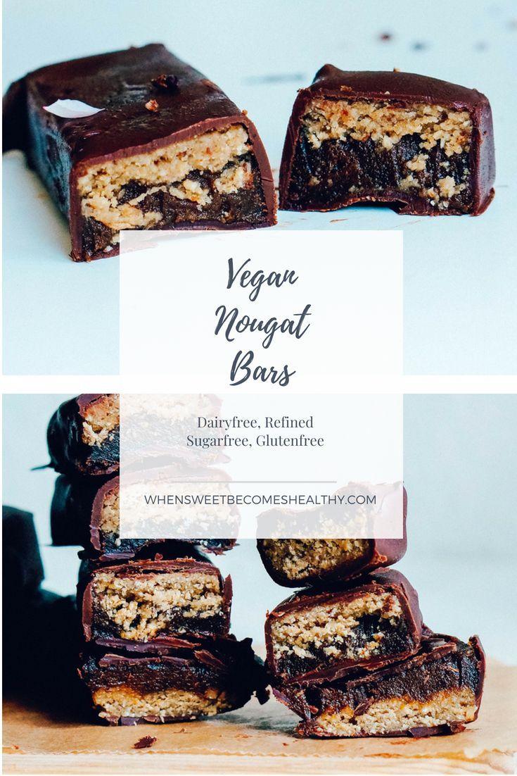 Vegan Nougat Caramel Bars Raw Vegan Desserts Caramel Bars