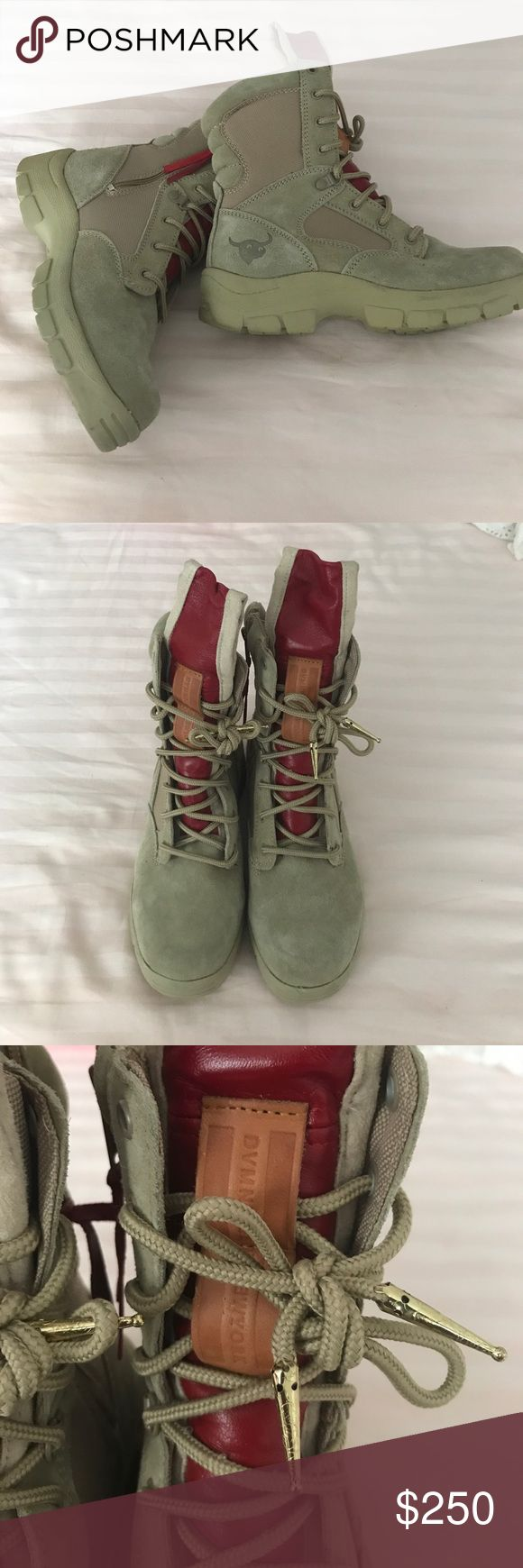 DVMN Pigeon!!! Only worn once. Cute boots. Men's boots. I called myself trying to get away with them but they make my feet look big lol Shoes Rain & Snow Boots