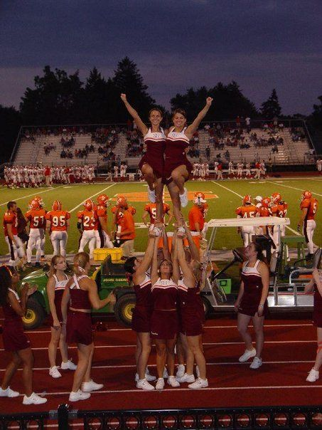 Susquehanna University 2006 - all-girl double cupie  #cheerleading #cheer #stunts #pyramids #susquehanna