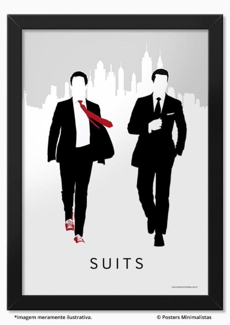 Suits - Séries | Posters Minimalistas