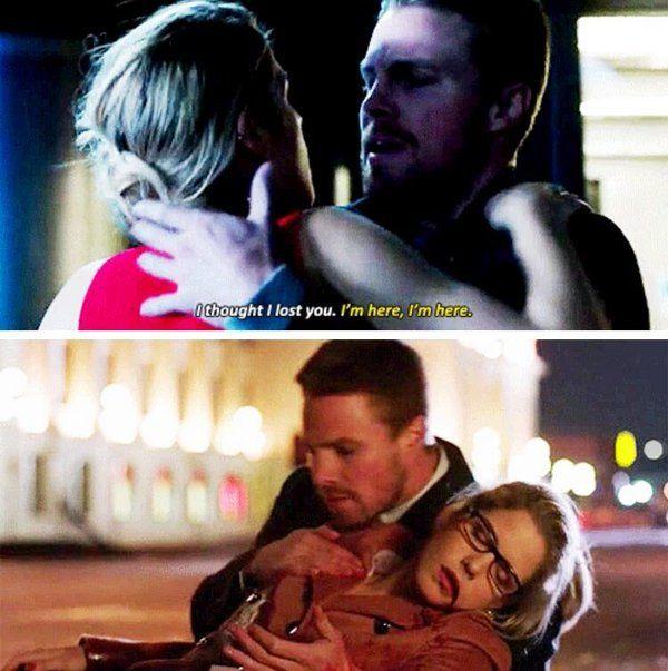 Arrow - Oliver & Felicity #4.9 #Season4 #Olicity :(