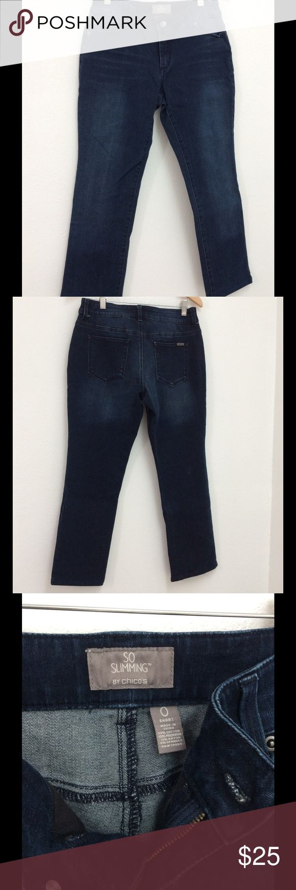 Women Chico's So Slimming Ankle Jeans Size 0 Used but still has life left. Stretchable. Chico's Jeans Ankle & Cropped